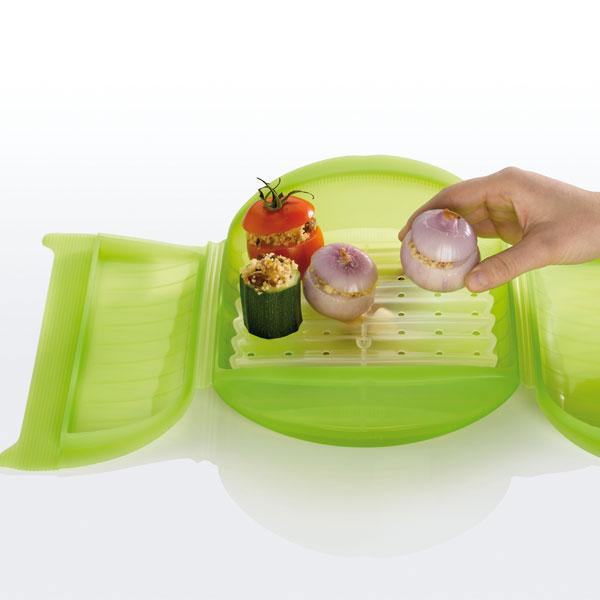 Estuche para cocinar al vapor con bandeja 3 4 personas - Recipientes de silicona para cocinar al vapor ...