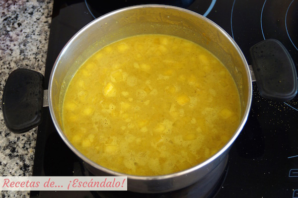 Como hacer salsa curry, receta sin nata