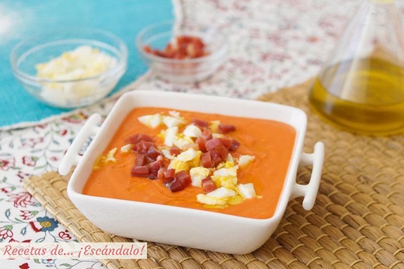 Salmorejo cordobés. Cómo hacer la receta tradicional andaluza