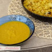 Salsa curry, receta sin nata