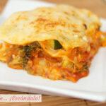 Lasana de verduras, una receta vegetariana y saludable