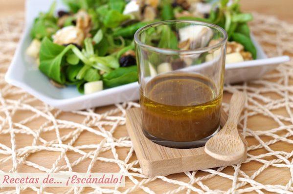 Vinagreta de mostaza y miel, ideal para ensaladas
