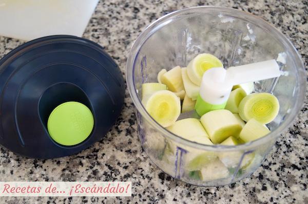Picadora manual chop chop kuhn rikon con puerro