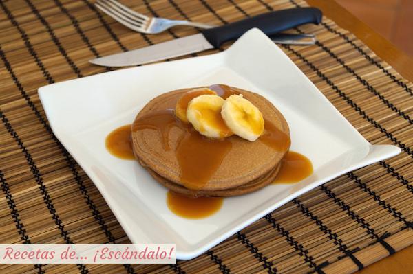 Tortitas de avena caseras y saludables, receta de pancakes muy facil