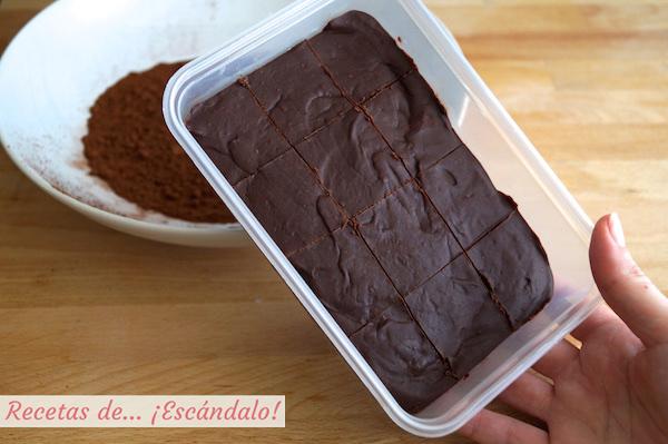 Porciones para trufas de chocolate