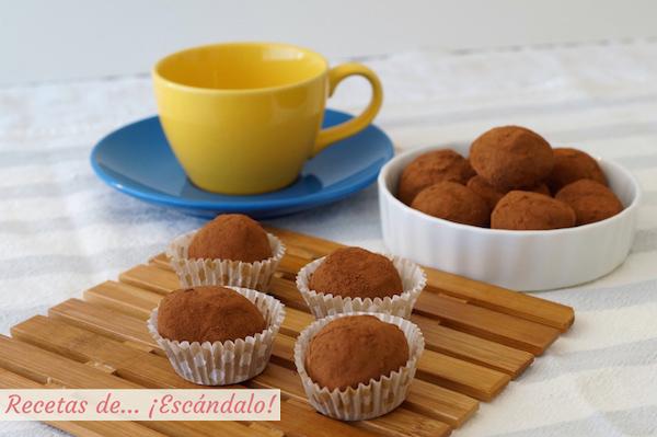 Receta de trufas de chocolate caseras y faciles