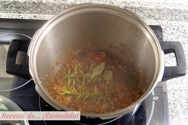 Verduras para la salsa del redondo de ternera