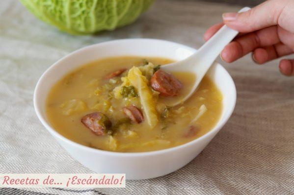 Caldo verde portugues, receta tradicional