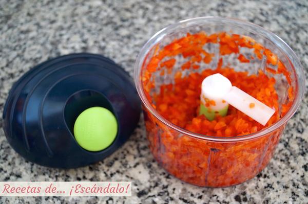 Pimiento rojo picado con chop chop