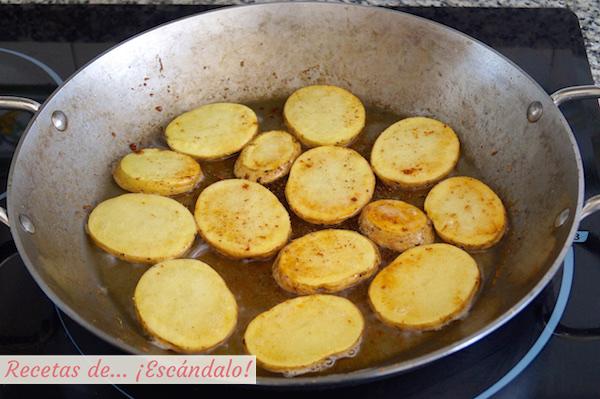 Patatas para el arroz al horno