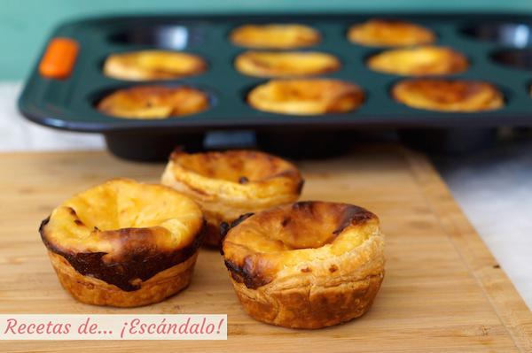 Receta de pasteis de belem, pasteles de belem o pasteis de nata, postre portugues
