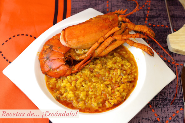 Receta de arroz caldoso con bogavante