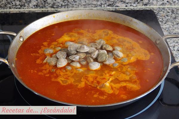 Receta de arroz de marisco