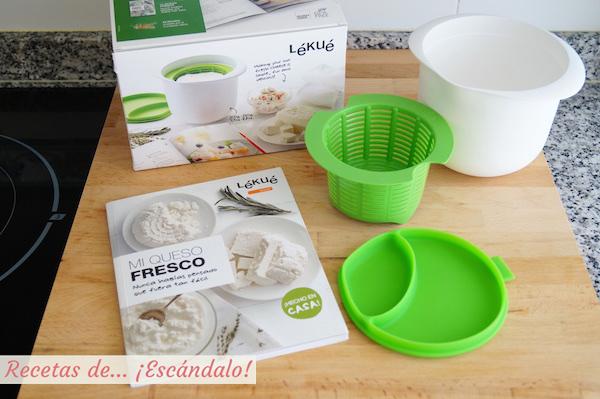 Kit para preparar queso fresco casero