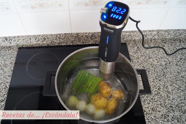 Verduras a baja temperatura