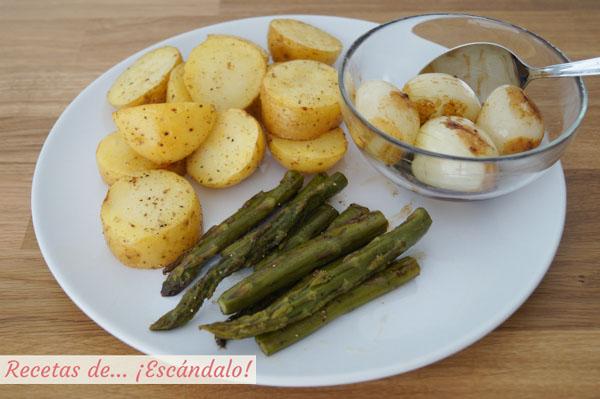 Verduras cocinadas a baja temperatura