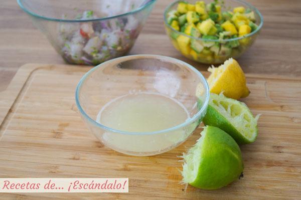 Zumo de lima y limon
