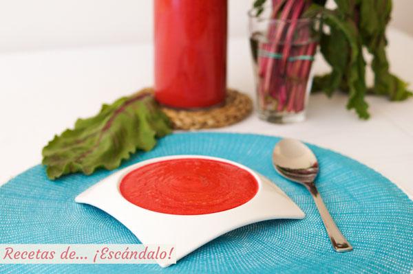 Gazpacho de remolacha casero