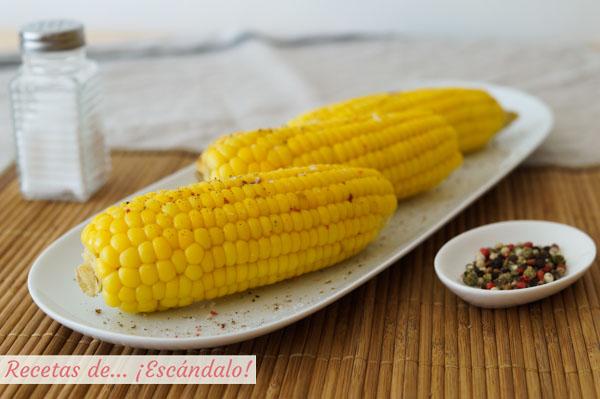 Mazorcas de maiz super tiernas y sabrosas
