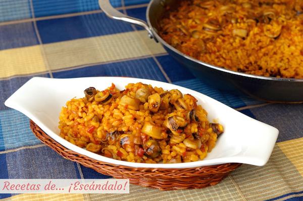 Receta de arroz con calamares, facil y muy rico