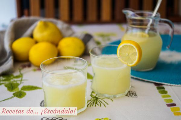 Receta de limonada casera y natural, la mas facil y refrescante