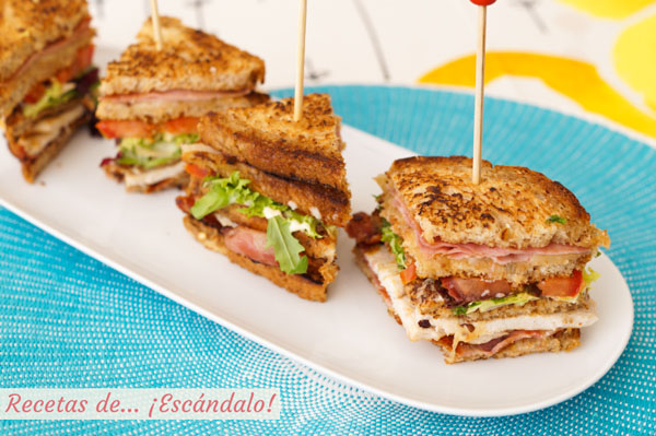 Receta original de Sandwich Club