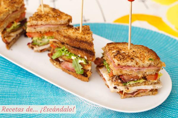 Receta original de Sandwich Club
