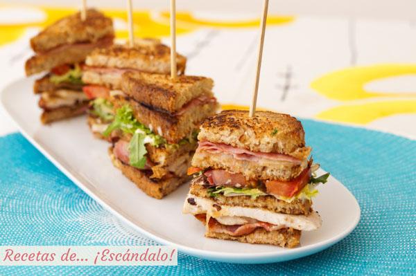 Sandwich Club, la receta original de este sabrosisimo sandwich