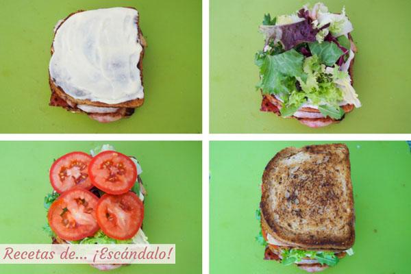 Sandwich club, montaje