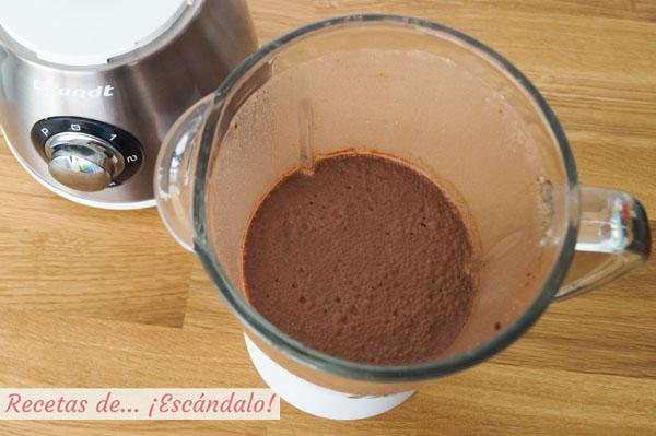 Batido de platano y chocolate con canela