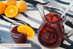 Sangria casera, aprende como hacerla. Receta con vino tinto y frutas
