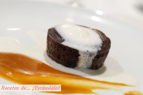 Coulant de chocolate con toffee