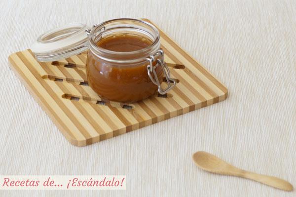 Receta de caramelo salado casero o toffee