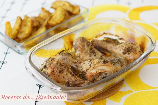 Receta de muslos de pollo al horno con limon