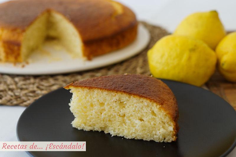 Bizcocho De Limón Y Yogur Muy Esponjoso Receta Fácil
