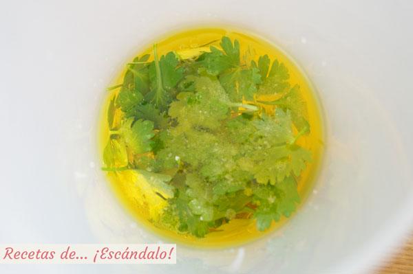 Ingredientes para la salsa verde