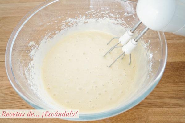 Mezcla del bizcocho de limon y yogur