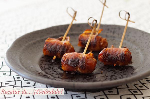 Receta de datiles con bacon al horno
