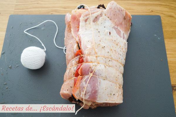 Bridar carne lomo de cerdo