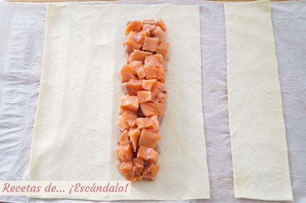 Hojaldre con salmon