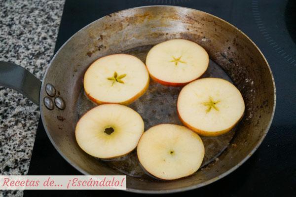 Manzanas a la plancha