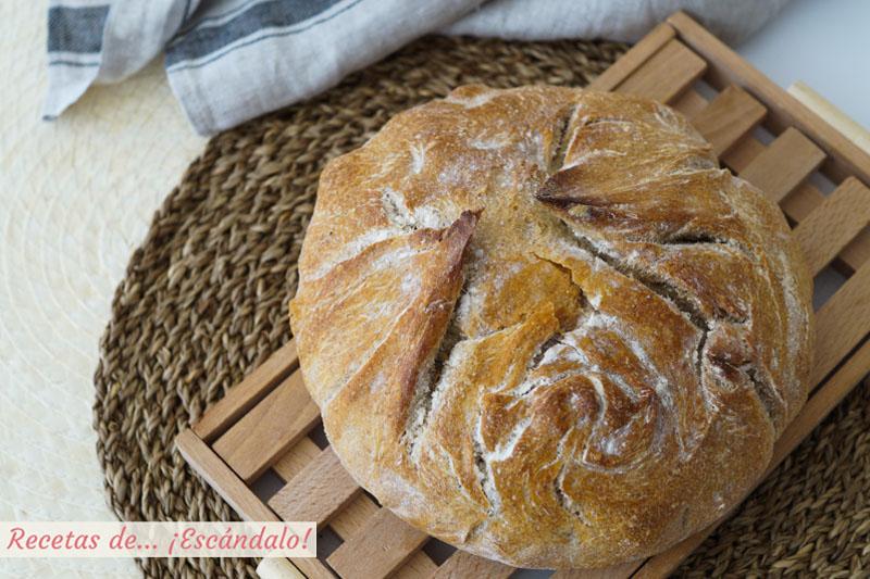 Pan casero en cazuela. Receta muy facil para hacer pan en casa