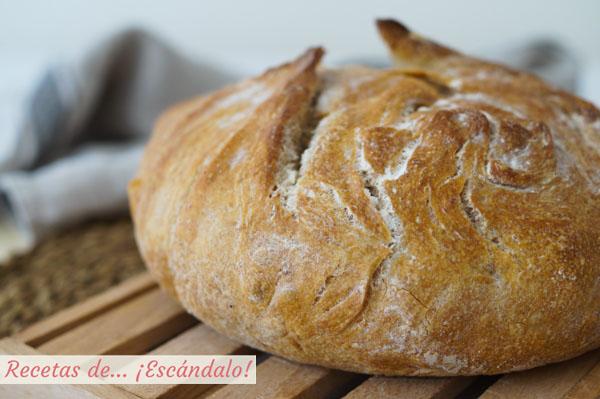 Receta muy facil de pan casero en cazuela