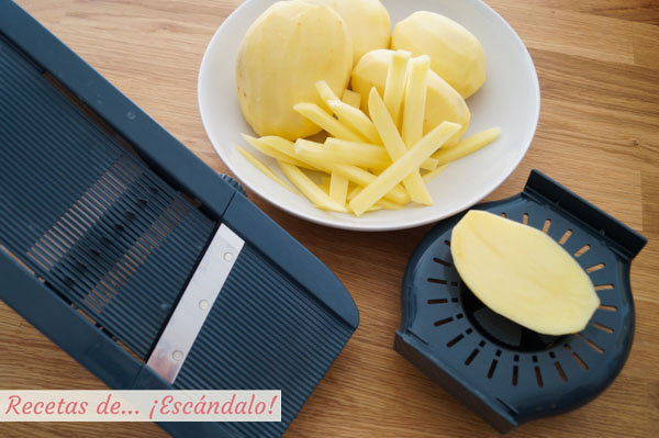 Como hacer patatas fritas