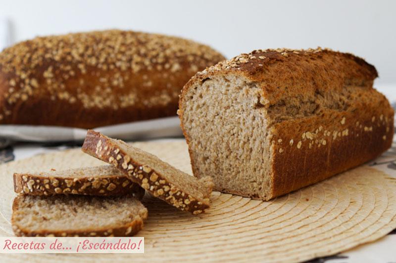 Como hacer pan casero de avena en molde. Receta facil