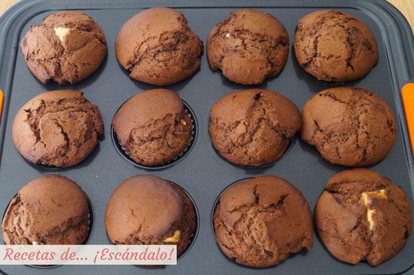 Muffins de chocolate caseros