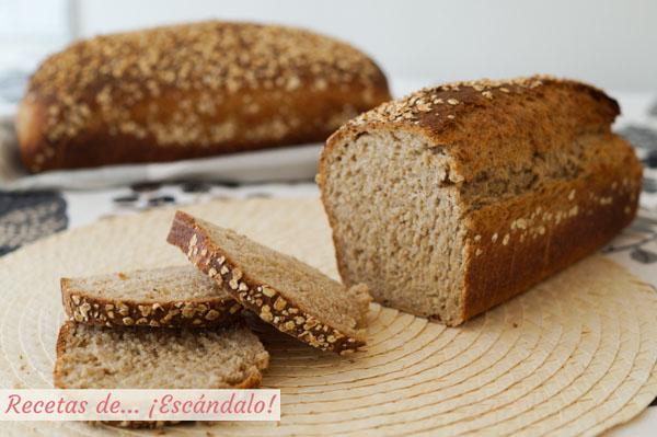 Receta de pan casero de avena en molde
