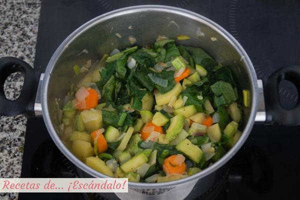 Ingredientes para el pure de verduras o crema de verduras