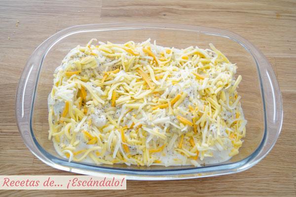 Coliflor al horno con bechamel y queso