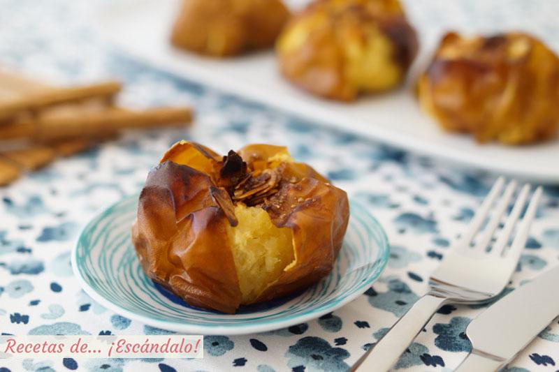 Manzanas asadas al horno con canela y almendras